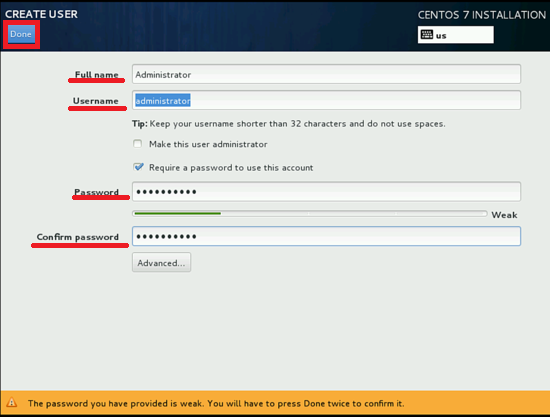 CentOS Installation step 6-16