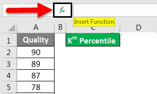 percentile formula in excel example 1-3