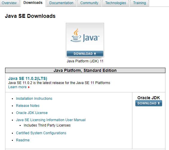 Installation of Java Development Kit