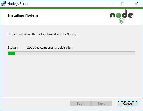 Node.js Installation Step 10