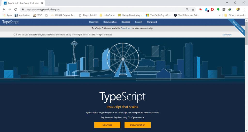 TypeScript installation Step 1