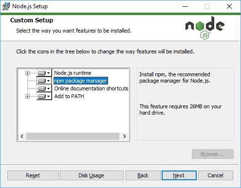 Node.js Installation Step 7