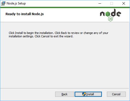 Node.js Installation Step 9