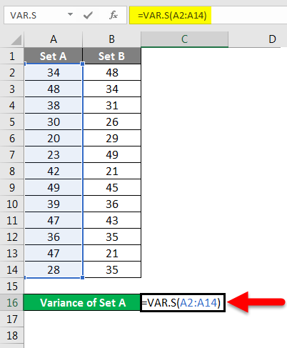 variance example 2-2