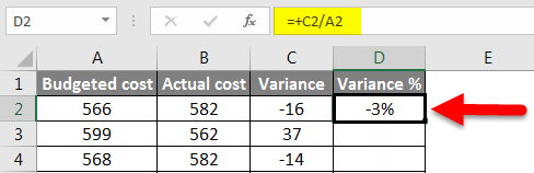 variance example 4-1