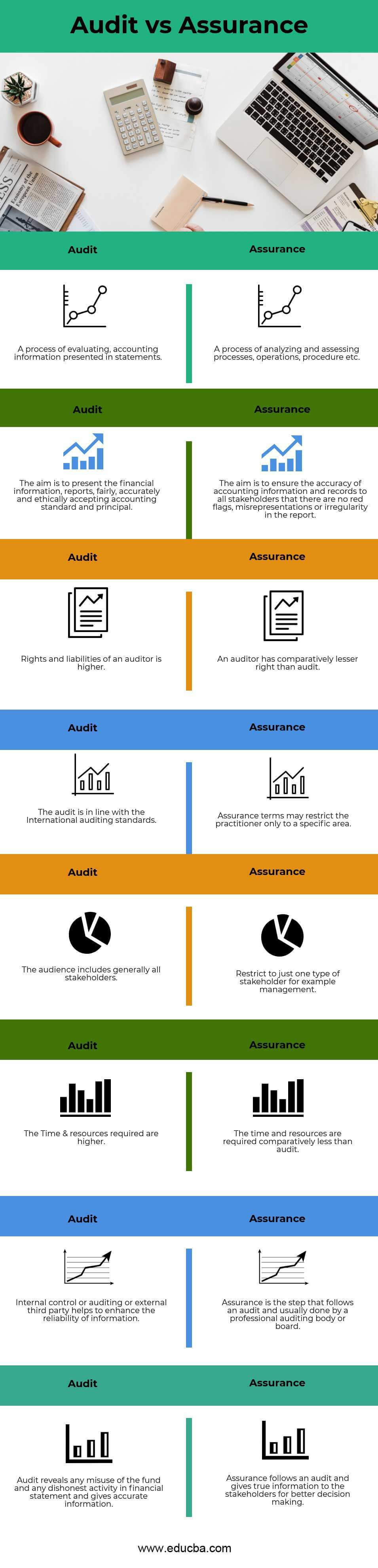 audit  assurance top   differences  infographics