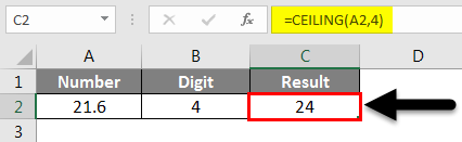 Rounding in Excel - CEILING Function Example
