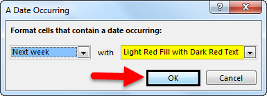 Conditional Formatting For Dates Example 1-2