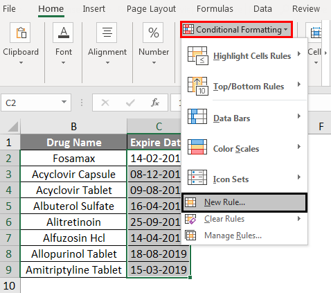 Conditional Formatting For Dates Example 2-3