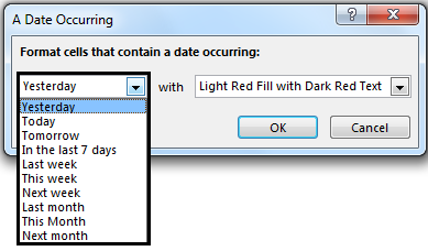 Conditional Formatting For Dates Path 1-2