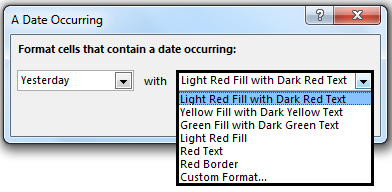 Conditional Formatting For Dates Path 1-3