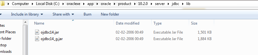 installed Oracle 11g in your C folder