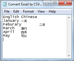 CSV file in notepad