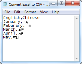 Convert Excel to CSV