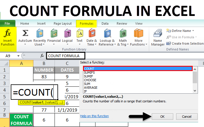 Count Formula in Excel