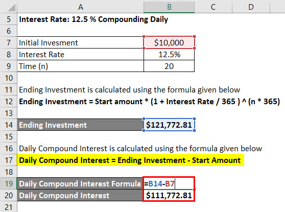 Daily Compound Interest Formula Example 2-3
