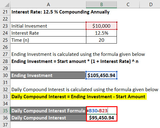 Daily Compound Interest Formula Example 2-6