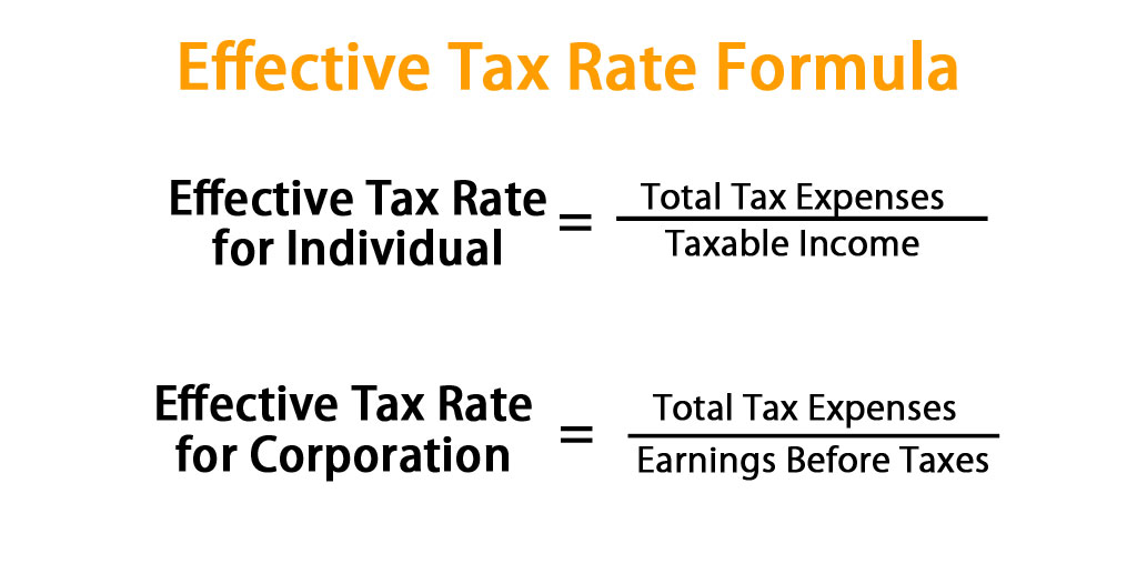 Effective Tax Rate Formula