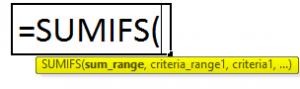 Excel sumifs image