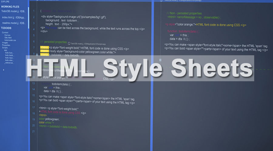 HTML Style Sheets