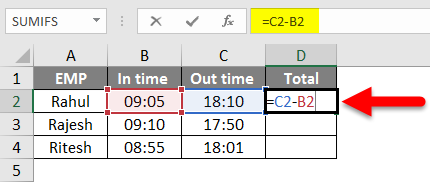 How To Sum Hour In Excel Example 1-1