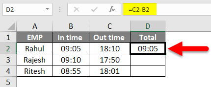 How To Sum Time In Excel Example 1-2