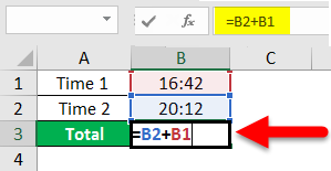How To Sum Time In Excel Example 2-1