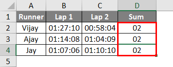 Sum Time in Excel | How to Use an Excel Formula to Sum Time