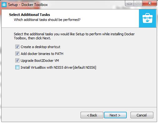 Install Docker Toolbox