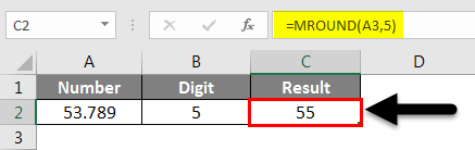 Rounding in Excel - MROUND Function 1