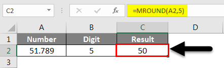 Rounding in Excel - MROUND Function 2