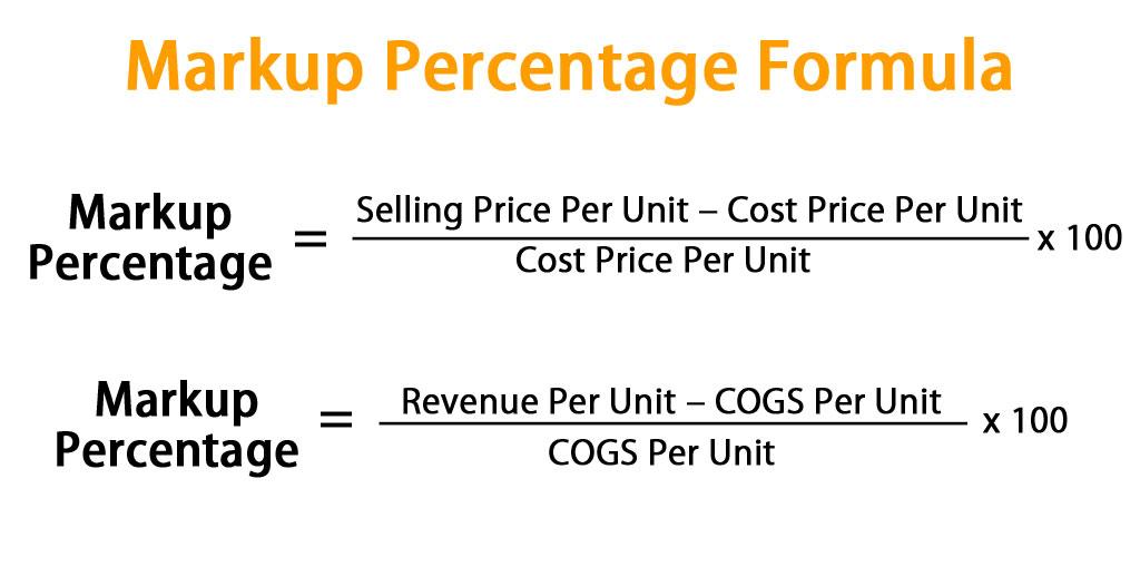 Markup Percentage Formula