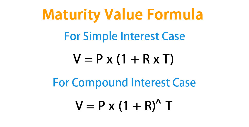 Maturity Value Formula