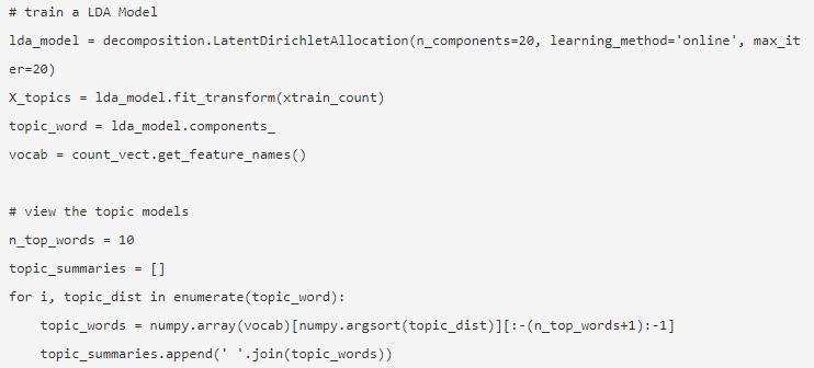 NLP in Python 16