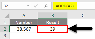 Rounding in Excel - Odd Function Example
