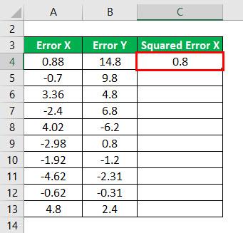 R - Squared Formula Example 1-3