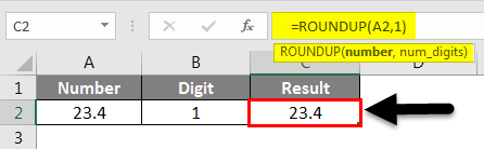 Rounding in Excel - Roundup Function 1