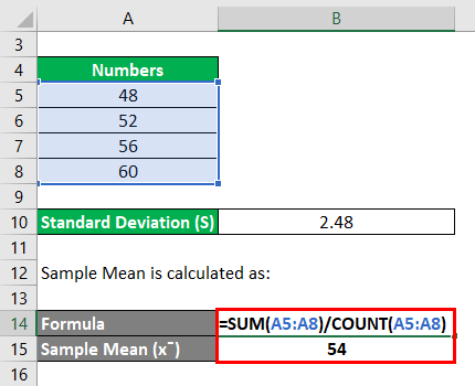 RSD Formula Example 1-2