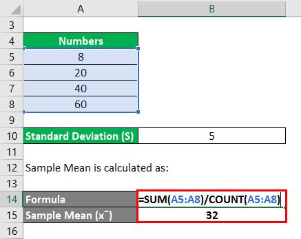 RSD Formula Example 3-2