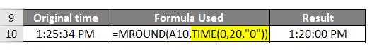 Round time formula