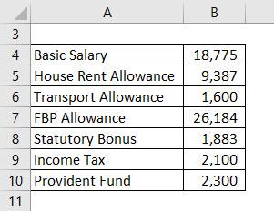 Salary Formula Example 1-1