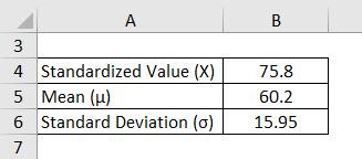 Standard Normal Distribution Formula Example 1-1