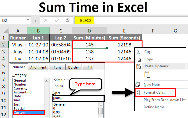 Sum-Time-in-Excel