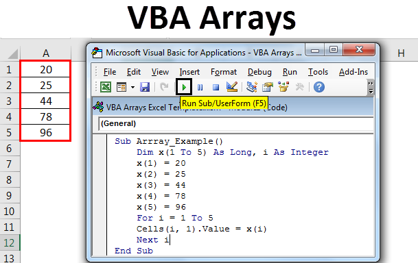 VBA Arrays in Excel