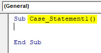VBA Case Example 1-2