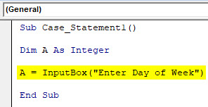 VBA Case Example 1-4