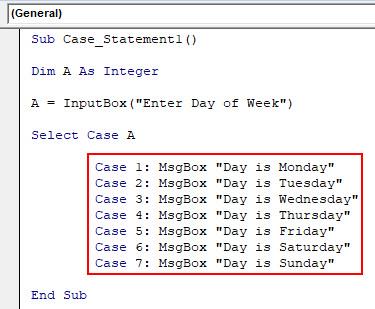 VBA Case Example 1-6