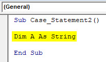 VBA Case Example 2-2