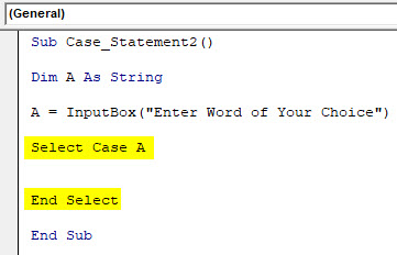 VBA Case Example 2-4
