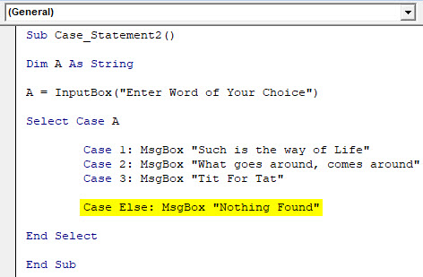 VBA Case Example 2-6